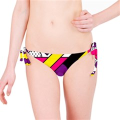 Memphis Colorful Background With Stroke Bikini Bottom