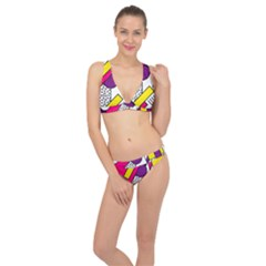 Memphis Colorful Background With Stroke Classic Banded Bikini Set  by Vaneshart