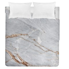Gray Light Marble Stone Texture Background Duvet Cover Double Side (queen Size)