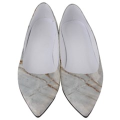 Gray Light Marble Stone Texture Background Women s Low Heels
