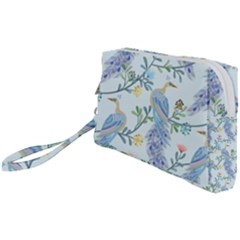 Beautiful Peacock Seamless Pattern Wristlet Pouch Bag (small)