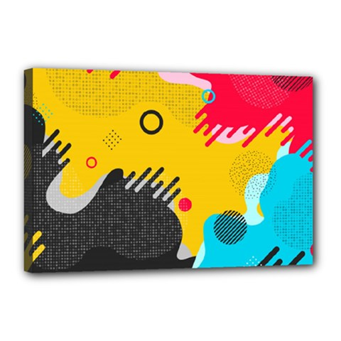 Abstract Colorful Pattern Shape Design Background Canvas 18  X 12  (stretched)