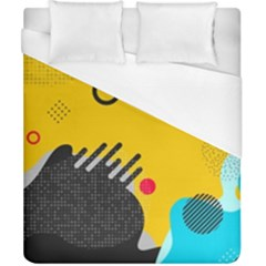 Abstract Colorful Pattern Shape Design Background Duvet Cover (california King Size)