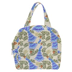 Peacock Vector Design Seamless Pattern Fabri Textile Boxy Hand Bag