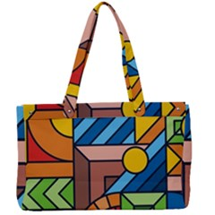 Colorful Geometric Mosaic Background Canvas Work Bag