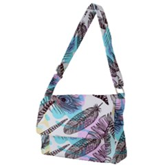 Hand Drawn Feathers Seamless Pattern Full Print Messenger Bag