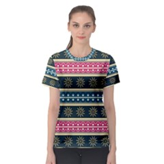 African Seamless Pattern Abstract Background Hand Drawn Women s Sport Mesh Tee