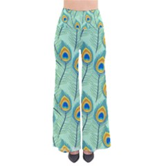 Lovely Peacock Feather Pattern With Flat Design So Vintage Palazzo Pants by Vaneshart