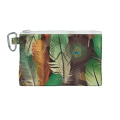 Feathers Realistic Pattern Canvas Cosmetic Bag (medium)