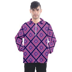 Ethnic Seamless Pattern Tribal Line Print African Mexican Indian Style Men s Half Zip Pullover