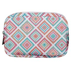 Ethnic Seamless Pattern Tribal Line Print African Mexican Indian Style Make Up Pouch (small)