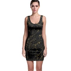 Black Marbled Surface Bodycon Dress