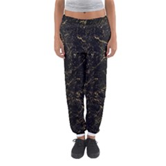 Black Marbled Surface Women s Jogger Sweatpants