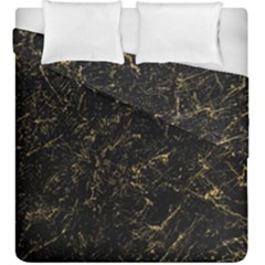 Black Marbled Surface Duvet Cover Double Side (king Size)