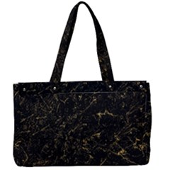 Black Marbled Surface Canvas Work Bag