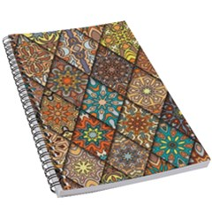 Colorful Vintage Seamless Pattern With Floral Mandala Elements Hand Drawn Background 5 5  X 8 5  Notebook