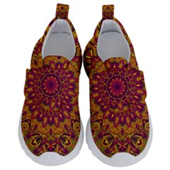 Mandala Vector Tribal Vintage Ethnic Seamless Pattern Print Kids  Velcro No Lace Shoes