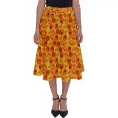Honeycomb Perfect Length Midi Skirt by retrotoomoderndesigns