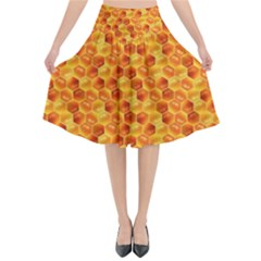 Honeycomb Flared Midi Skirt by retrotoomoderndesigns