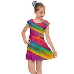 Rainbow Dreams Kids  Cap Sleeve Dress