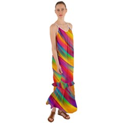 Rainbow Dreams Cami Maxi Ruffle Chiffon Dress
