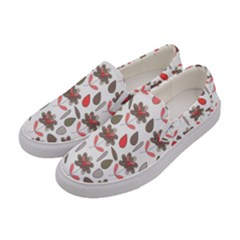 Zappwaits Flowers Women s Canvas Slip Ons by zappwaits