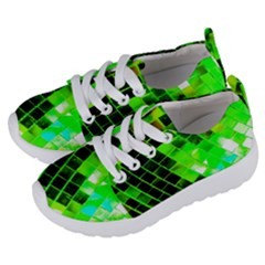 Green Disco Ball Kids  Lightweight Sports Shoes by essentialimage
