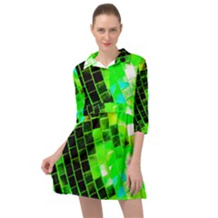 Green Disco Ball Mini Skater Shirt Dress