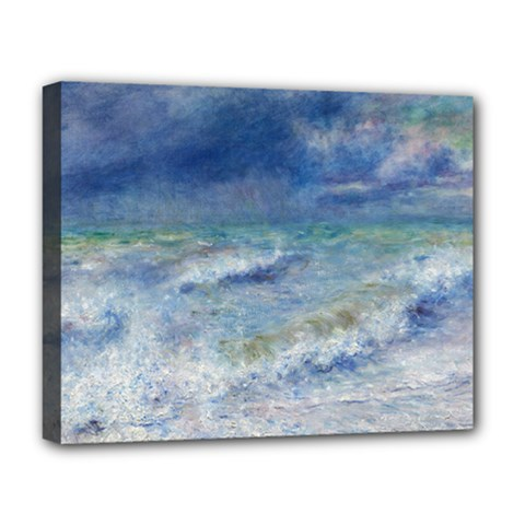 Seascape By Pierre-auguste Renoir Fine Art Deluxe Canvas 20  X 16  (stretched) by ArtMuseum