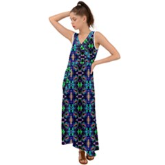 New Arrivals B 10 V Neck Chiffon Maxi Dress