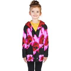 Pink And Red Tulip Kids  Double Breasted Button Coat by okhismakingart