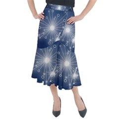 Network Technology Connection Midi Mermaid Skirt