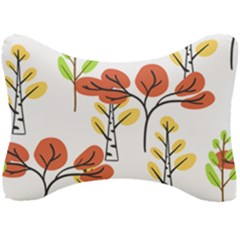 Tree Autumn Forest Landscape Seat Head Rest Cushion by Mariart