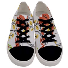 Tree Autumn Forest Landscape Men s Low Top Canvas Sneakers