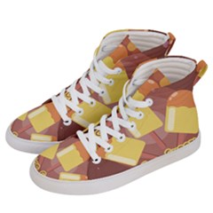 Cream Sweet Icecream Women s Hi-top Skate Sneakers by Bajindul