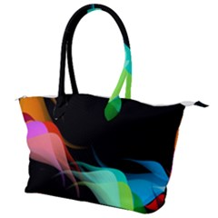 Flower 3d Colorm Design Background Canvas Shoulder Bag