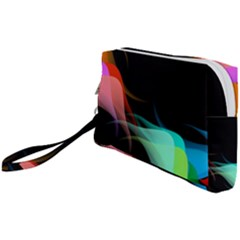 Flower 3d Colorm Design Background Wristlet Pouch Bag (small)