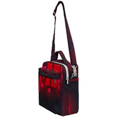 Light Neon City Buildings Sky Red Crossbody Day Bag