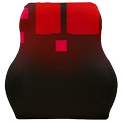 Light Neon City Buildings Sky Red Car Seat Velour Cushion