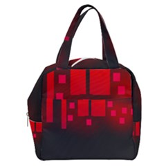 Light Neon City Buildings Sky Red Boxy Hand Bag