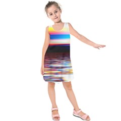 Lake Sea Water Wave Sunset Kids  Sleeveless Dress