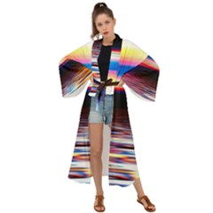 Lake Sea Water Wave Sunset Maxi Kimono