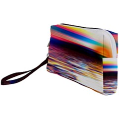 Lake Sea Water Wave Sunset Wristlet Pouch Bag (small)