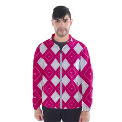 Backgrounds Pink Men s Windbreaker