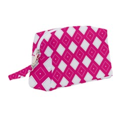 Backgrounds Pink Wristlet Pouch Bag (medium)