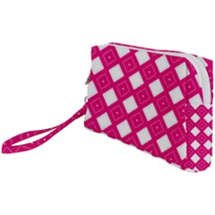 Backgrounds Pink Wristlet Pouch Bag (small)