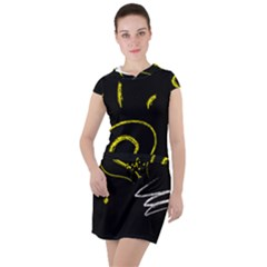 Bulb Light Idea Electricity Drawstring Hooded Dress