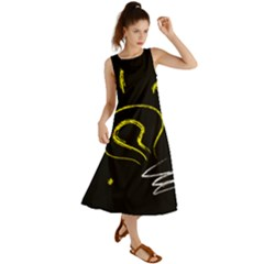 Bulb Light Idea Electricity Summer Maxi Dress