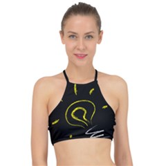 Bulb Light Idea Electricity Racer Front Bikini Top