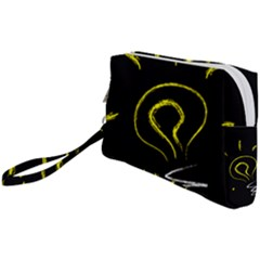 Bulb Light Idea Electricity Wristlet Pouch Bag (small)